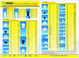 Báo giá ống nước hàn nhiệt Vesbo PPR - BẢNG GIÁ MÀU - Phân phối độc quyền ống nước Vesbo
