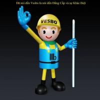 Laser công nghệ in cao cấp nhất được áp dụng cho sản phẩm Vesbo